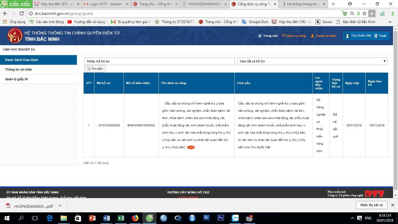 Hướng dẫn đăng ký dịch vụ công trực tuyến mức độ 3